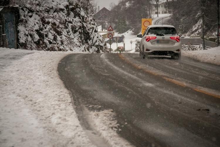 Snøen la seg tett flere stedet, her i fra Toppe. (Foto: Sandor Dahl)