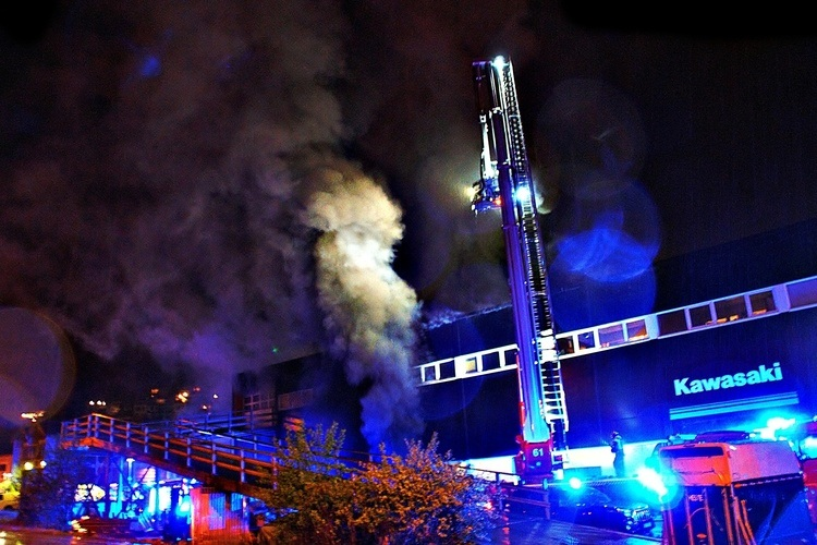 24. mai brant lokalene til Bergen MC-Center. (Foto: Sandor Dahl)