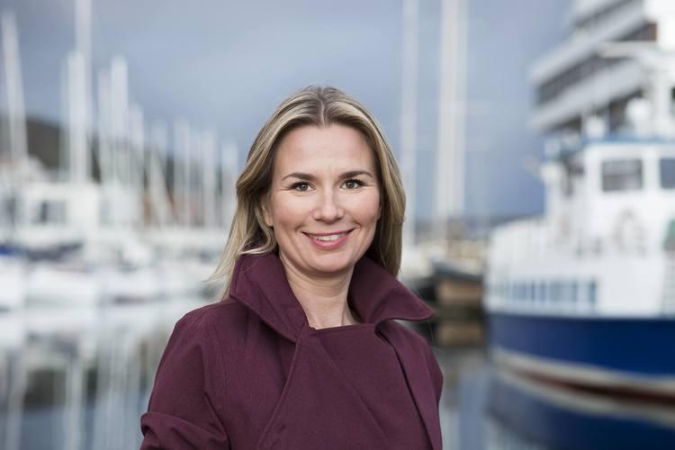 Kommunikasjonsdirektør i Sparebanken Vest, Hanne Dankertsen. (Foto: Silje Katrine Robinson)